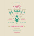 summer party poster or flyer retro design template vector image vector image