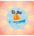 Summer yacht sailing retro background vector image vector image