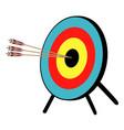 three arrow bullseye vector image vector image