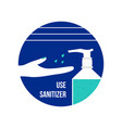 use hand sanitizer concept icon