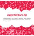 valentine day concept banner with love icons in vector image
