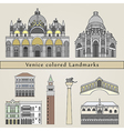 Venice colored Landmarks vector image vector image