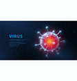 virus abstract 3d viral microbe on blue vector image vector image