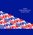 vote 2020 banner united states america vector image vector image