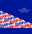 vote 2020 banner united states america vector image