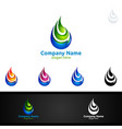 water drop logo design templateecology clean