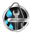 water filtration water tap symbol vector image vector image