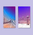 winter city the bridge of freedom budapest vector image vector image