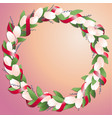 wreath made from tulips and springs with bright vector image