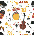 fashion jazz band music party musical instrument vector image