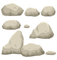 graphic of rock stone set vector image