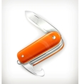 Pocket knife vector image