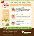 Template for dessert cafe web site vector image