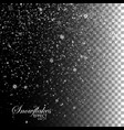 snow falling background vector image