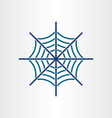 spider web target icon design vector image