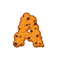 a letter cookies cookie font oatmeal biscuit vector image vector image