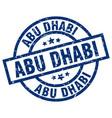 abu dhabi blue round grunge stamp vector image vector image