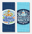 banners for winter holidays vector image vector image