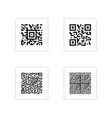 barcode sticker set vector image