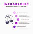 berry cherry food spring solid icon infographics vector image vector image