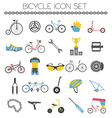 Bicycle icon set Bike types flat design vector image vector image
