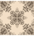 Blue Floral Seamless Pattern on Beige vector image vector image
