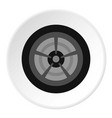 car wheel icon circle vector image vector image