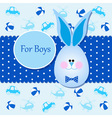Card for baby boy in blue colors vector image vector image