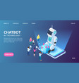 chatbot landing page artificial intelligence vector image vector image