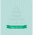 Christmass card with elegant text new year ribbon vector image vector image