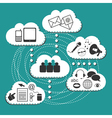 Cloud system User Interface vector image vector image