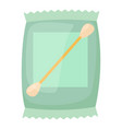 cotton bud icon cartoon style vector image