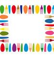 Cutlery color background menu vector image vector image