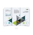 design for folding brochure or flyer vector image