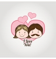 family love design vector image vector image