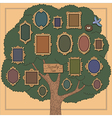 family tree bird vector image