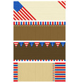 four wooden banners with elements of usa banner vector image vector image