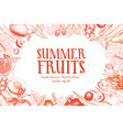 fruits hand drawn background banner vector image vector image