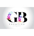 gb vibrant creative leter logo design with vector image vector image
