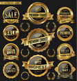 golden and black retro badges and labels vector image vector image