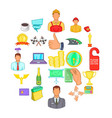 governance icons set cartoon style vector image vector image