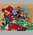 graffiti elements vector image