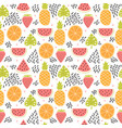 hand drawn colorful seamless pattern with vector image vector image
