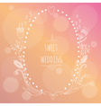 Hand drawn wedding invitation vector image vector image