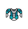 hockey uniform sports sweater sweatshirt flat vector image vector image