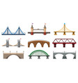 iron bridge set vector image