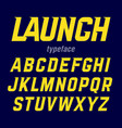 launch font modern bold industrial style typeface vector image vector image