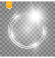 light ring round shiny frame with lights vector image vector image