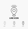 location pin camping holiday map icon in thin vector image