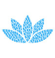 lotus flower composition of dollar and dots vector image